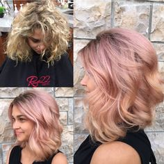 We love this peachy/pink #transformation by @rouge22salon. It's a pro-to-pro #makeover (from mother to daughter)! For the how to, go to MODERNSALON.com and search Tammy Muniz. #modernsalon