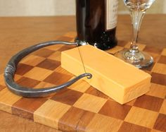 Large Handforged Cheese Cutter by toughandtwisted on Etsy, $60.00