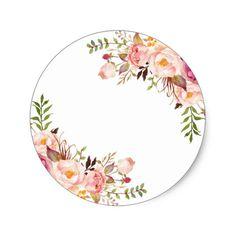 Diy Crafts - Elegant Chic Floral Gold Frame Thank You Square Sticker Frame Floral, Flower Frame, Vintage Clipart, Wedding Cards, Wedding Invitations, Eid Cards, Invitation Background, Graduation Diy, Elegant Chic