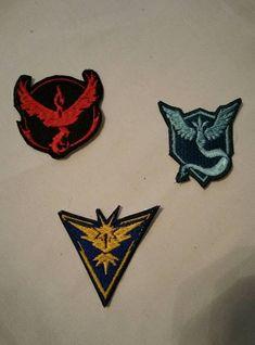 Pokemon Go Team Badges by Kelticism on Etsy