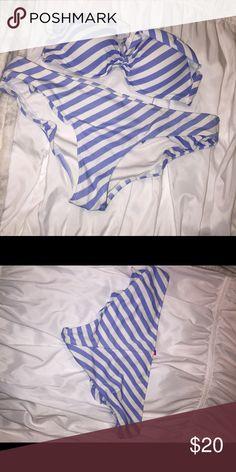 Victoria's Secret bikini striped, ruffled Swim Bikinis