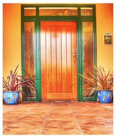 I imagine this may be similar to what my front door will look like once we move somewhere tropical ;)