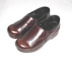Dansko Professional Brown Leather Clog Shoe Women's Euro 37 US 6.5-7 #Dansko #Clog