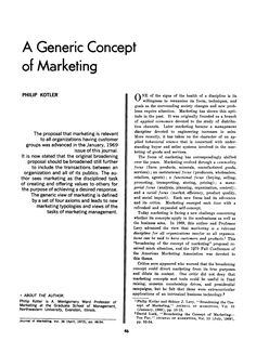 Page 46 of A Generic Concept of Marketing