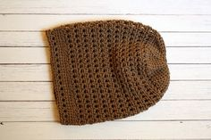 Brown City Slouch Cap  Adult Size  Ready to by NapTimeCreationsMO, $18.00
