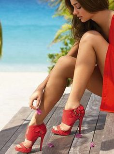 Red high heeled sandals I Love Shoes Bags I Love Shoes high heels sandals |2013 Fashion High Heels|  #veetsoomth