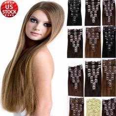Best quality 100 true clip in remy human hair extensions full glorious no1 clip in remy human hair extensions full head 7 piece 22 pmusecretfo Choice Image