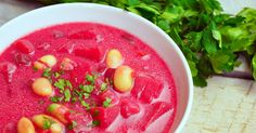 barszcz ukrainski Beet Soup, Soup And Salad, Beets, Cantaloupe, Watermelon, Salsa, Food And Drink, Mexican, Favorite Recipes