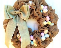 Easter Burlap Wreath Tutorial