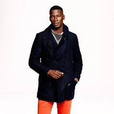 Dock peacoat with Thinsulate® - wool - Men's outerwear - J.Crew