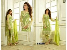 Green stylish salwar suits