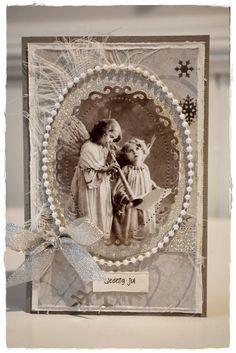 Gro's kort og sånnt: Julekort med engler