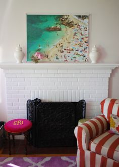 diy extra large beach artwork . . . looks like a Gray Malin!