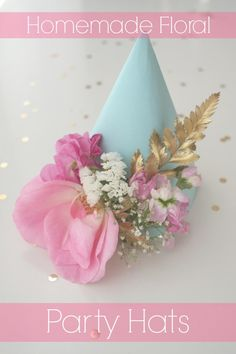 Sweetly Chic Events & Designs show how to make these beautiful handmade floral party hats on our blog! See more party planning ideas at CatchMyParty.com!