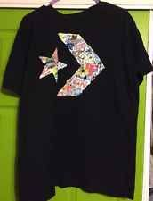 Converse All Star Chuck Taylor T-Shirt Black with Logo Large