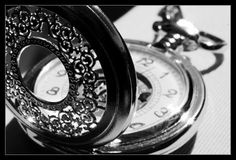 Black and white pocket watch by ~ClawzSkunk on deviantART - Black&White - Vintage Clock Watches Photography, Steampunk Design, Best Black, Black And White Pictures, Shades Of Black, 50 Shades, Looks Cool, Photo Manipulation, Black And White Photography