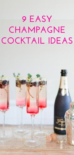 Champagne cocktails are always popular for Sunday brunch or any kinds of celebrations. 25 Champagne Cocktails for Celebrating with F. Party Drinks, Fun Drinks, Yummy Drinks, Beverages, Champagne Cocktail, Cocktail Drinks, Champagne Flutes, Cocktail Ideas, Sparkling Wine Cocktail Recipes