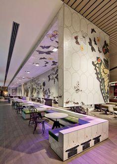 Melbourne Central Food court. Amazing mosaics. Academy Tiles | Glass | Ceramic | Porcelain | Stone | Mosaic