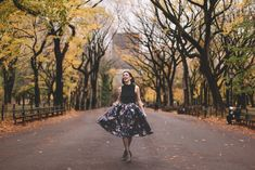 central park in the fall x fashion blogger portrait session by Jessica Whitaker