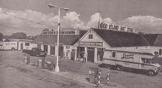"""The 1000 Island Bait Store on Route 12, Alexandria Bay, a half-mile west of the Thousand Islands Bridge, is pictured ca. 1978-79 in this postcard view. The back of the card reads """"Ice, Propane, Gas & Oil, Souvenirs, Beer, Groceries, Freezer Service. Largest Bait & Tackle Store in New York""""."""