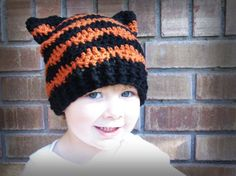 Fast Tiger Hat CROCHET PATTERN instant ... | Bowtykes Crochet Patterns