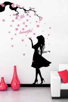 Wonderful Sea world removable vinyl wall art stickers window decals bathroom decor decoration stickers for nursery kids rooms Baby Wall Decals, Girls Wall Stickers, Wall Sticker Design, Wall Stickers Home Decor, Wall Design, Wall Stickers Girl Bedroom, Simple Wall Paintings, Creative Wall Painting, Wall Painting Decor