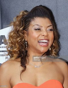 Actress Taraji P. Henson WEARING QIYADA LOGO HOOP EARRINGS attends the 'Dope' opening night premiere during the 2015 American Black Film Festival at SVA Theater on June 11, 2015 in New York City.