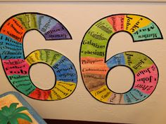 Teaching the 66 Books of the Bible in a very visual way!