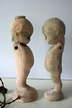 vintage chalkware kewpie dolls, set of 2. $105.00, via Etsy.
