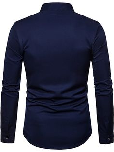 Men's Floral Shirt Basic Long Sleeve Daily Slim Tops Standing Collar White Black Wine / Spring / Work 2021 - Can $34.14 Cheap Mens Shirts, Mens Shirts Online, Casual Shirts For Men, Half Shirts, Men's Shirts, Work Tops, Summer Shirts, Active Wear For Women, Work Casual