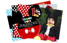 Thank You Cards To Match Mickey Mouse Invitations