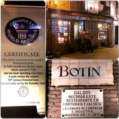 Restaurante Botín (Oldest Restaurant In The World) (Castilian)