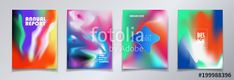 Vector: Modern brochure covers set, futuristic design. Abstract Diffuse colorful gradient phone screen background. Vector template minimalist poster, pop art flyer, typography print wallpaper banner