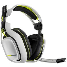In LOOOOVE with this colour combination of Astro Gaming - Wireless Dolby Surround Sound Gaming Headset for Xbox One - White - Larger Front Best Gaming Headset, Gaming Headphones, Wireless Headset, Xbox 5, Xbox One Pc, Xbox One Video, Video Games Xbox, Xbox Games, Ps4