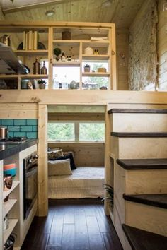 Home Remodel Ideas upstairs Living room. Down stairs low ceiling bedroom Bedroom & Living Room - Apothecary by Tiny Heirloom.Home Remodel Ideas upstairs Living room. Down stairs low ceiling bedroom Bedroom & Living Room - Apothecary by Tiny Heirloom Tiny House Bedroom, Tiny House Cabin, Tiny House Living, Tiny House Plans, Tiny House Design, Tiny House On Wheels, Bedroom Loft, Diy Bedroom, Tiny House Office