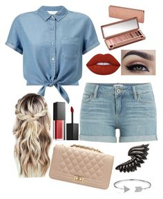 """""""Out with Friends"""" by ekjohnson1216 on Polyvore featuring Miss Selfridge, Paige Denim, Urban Decay, Lime Crime, Smashbox, Roberto Cavalli and Bling Jewelry"""