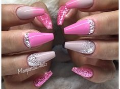 Winter Glitter Nails by MargaritasNailz