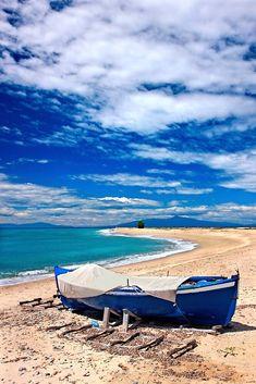 """Poseidi beach - Kassandra, Chalkidiki"" by Hercules Milas | Redbubble Most Beautiful Beaches, Beach Look, Hercules, Outdoor Furniture, Outdoor Decor, Summer Looks, Sun Lounger, Surfboard, Greece"