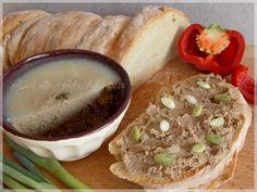 Házi csirkemájkrém - ...konyhán innen - kerten túl... Hummus, Pesto, Cooking, Ethnic Recipes, Food, Kitchen, Essen, Meals, Yemek