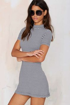 Lined Up Ribbed Dress