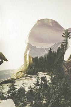 Within Nature Art Print #colormanagementclassproject #doubleexposure