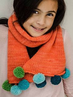 Cozy Scarf by Mary Scott Huff | malabrigo Chunky in Glazed Carrot. Published in Creative Kids Complete Photo Guide to Knitting