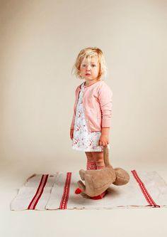 Robe bébé taches d'encre Orange - Kidscase - Milk&Green