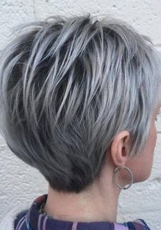 Resultado de imagem para short spiky gray cut