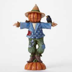 Jim Shore Pint Sized Harvest Pumpkin Head Scarecrow Figurine ~ 4047830