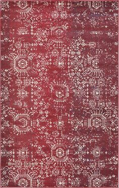 Barcelona Red Area Rug