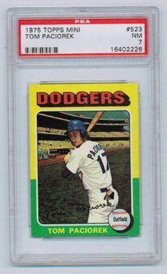 1975 Topps Mini #523 Tom Paciorek Los Angeles Dodgers PSA 7 NM by Topps. $7.99. 1975 Topps Mini #523 Tom Paciorek, Outfielder, Los Angeles Dodgers, PSA Graded 7 NM