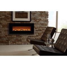 "Touchstone Onyx™ #80001 - 50"" Wall Mounted Electric Fireplace — Modern Blaze"