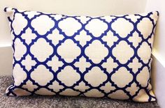 Contemporary Cushion Cover Blue linear Design on both sides Linen Cotton, Excellent quality Machine washable Contemporary Cushion Covers, Moroccan Cushions, For You Blue, Quatrefoil, Decoration, Diy, Throw Pillows, Bedroom, Cotton