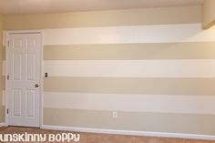 Timesaving tips for painting stripes on your walls.
